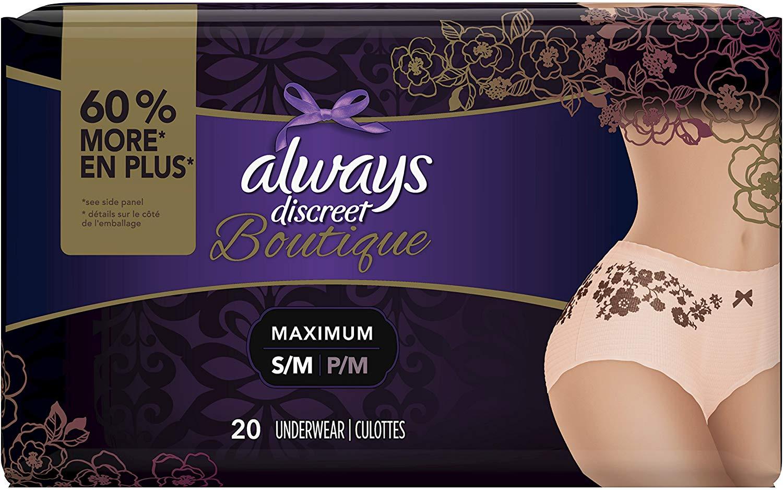 Always Discreet Boutique Incontinence & Postpartum Underwear for Women