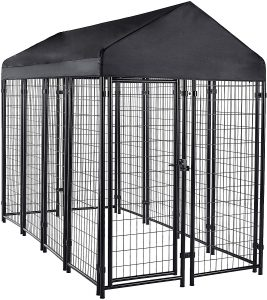secure outdoor dog kennel