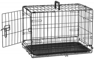 AmazonBasics Single-Door & Double-Door Folding Metal Dog Crate Cage