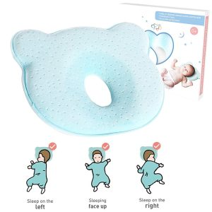AtoBaby Baby Pillow,Memory Foam Cushion for Flat Head Syndorme Prevention and Head Support