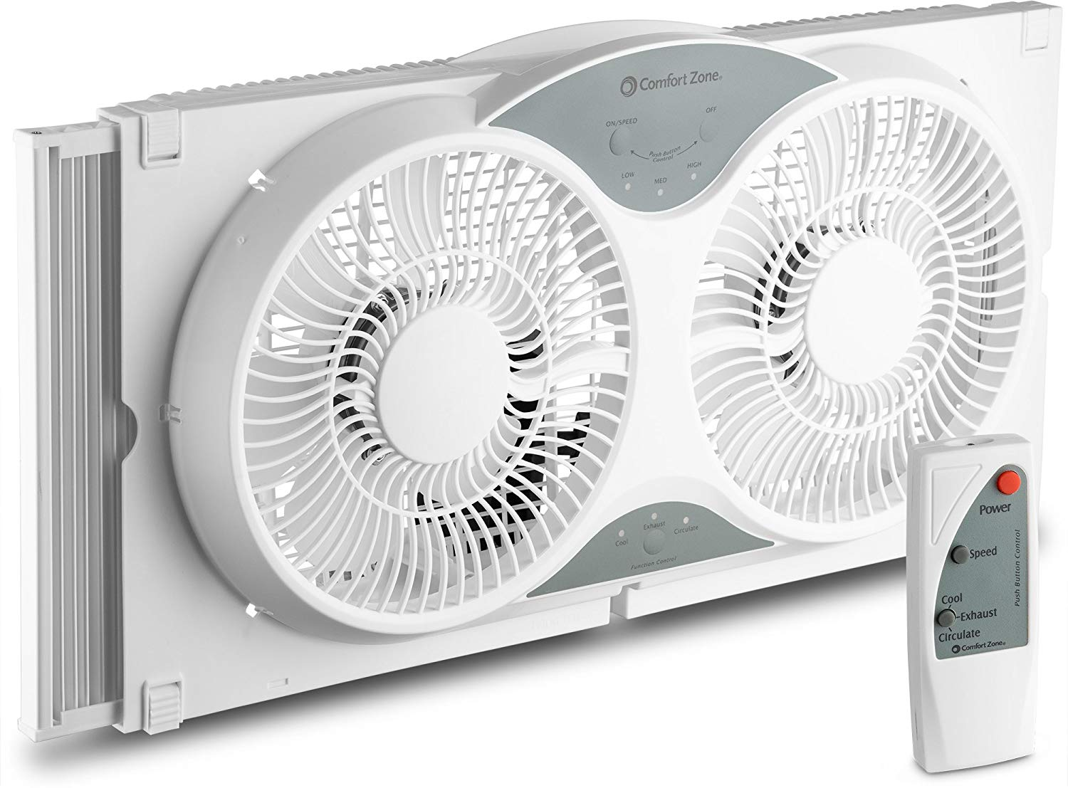 BOVADO USA Twin Window Cooling Fan with Remote Control