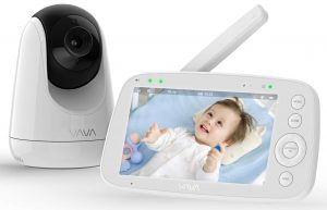 "Baby Monitor, VAVA 720P 5"" HD Display Video Baby Monitor with Camera and Audio"