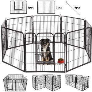 BestPet Dog Pen Extra Large Indoor Outdoor Dog Fence Playpen Heavy Duty