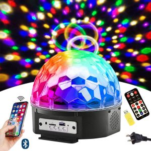 DJ Sound Activated Rotating Lights Wireless Phone Connection with Bluetooth Speaker