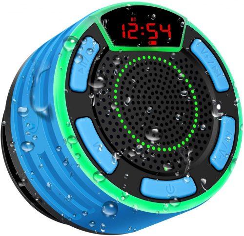 Bluetooth Speakers, BassPal IPX7 Waterproof Portable Wireless Shower Speaker