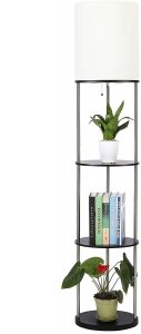 Floor Lamp with Organizer Shelves for Living Room Bedroom