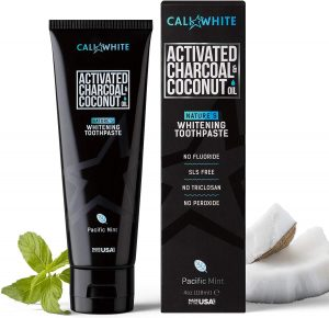 Cali White ACTIVATED CHARCOAL & ORGANIC COCONUT OIL TEETH WHITENING TOOTHPASTE, MADE IN USA