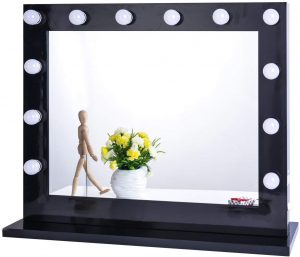 wall mounted light up mirror
