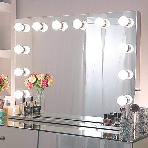 Chende Hollywood Light, Makeup Dressing Table Set Mirrors with Dimmer