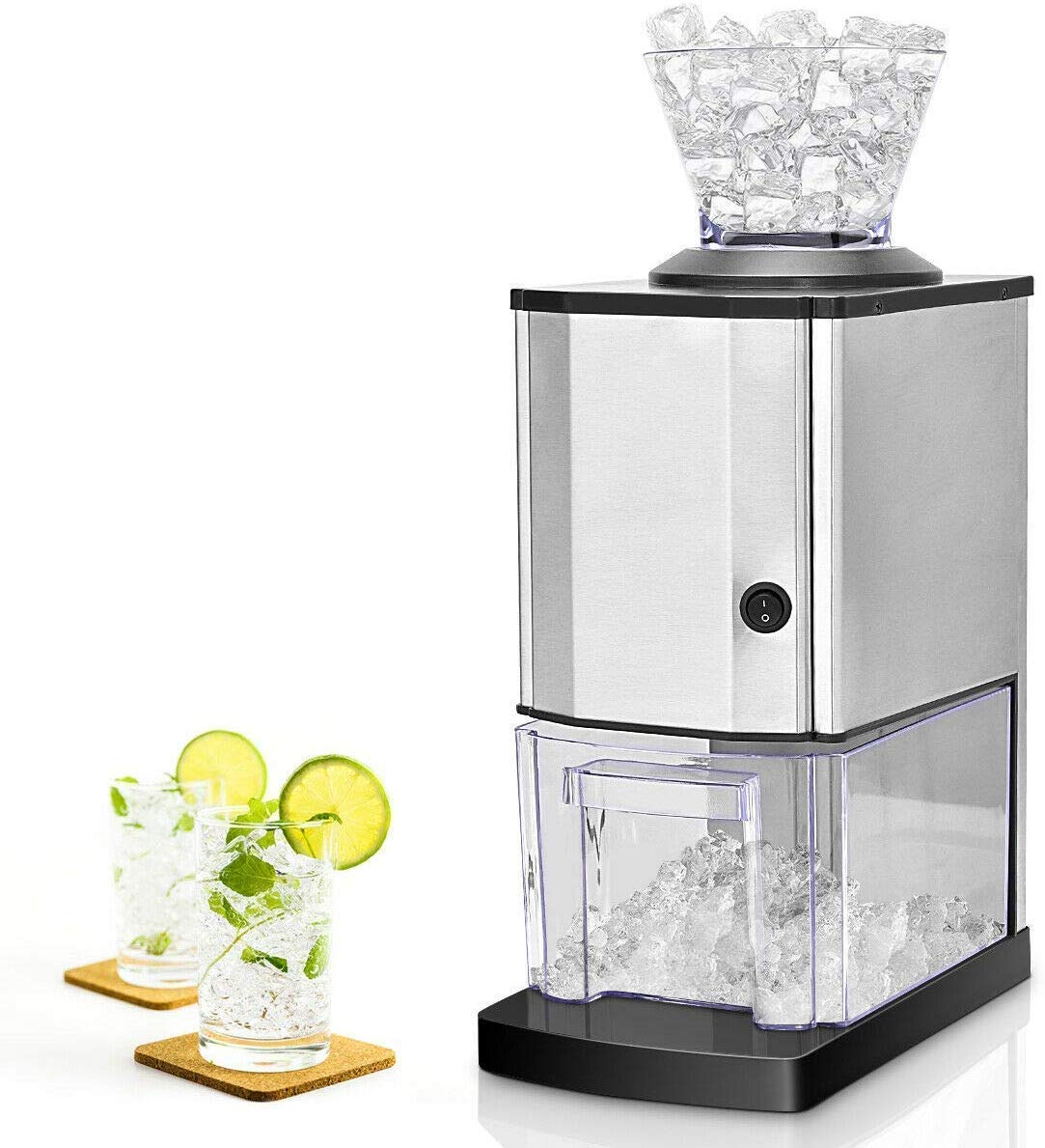 Costzon Electric Ice Crusher, Stainless Steel Ice Shaved Machine