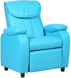 Costzon FWAM-00786 (Blue) Deluxe Children Recliner Sofa Armrest Chair