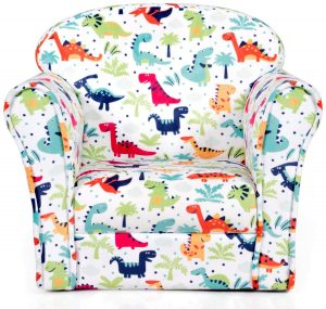 Costzon Kids Sofa, Children Armrest Chair with Dinosaur Pattern