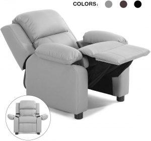 Costzon Kids Sofa Recliner, Children PU Leather Armchair