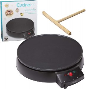 Crepe Maker and Non-Stick 12inch Griddle