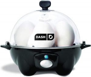 Dash DEC005BK black Rapid 6 Capacity Electric Cooker for Hard Boiled,