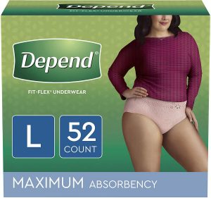 Depend FIT-FLEX Incontinence Disposable Underwear for Women