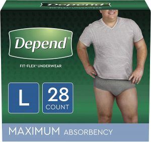 Depend FIT-FLEX Incontinence Underwear for Men, Disposable