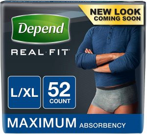 Depend Real Fit Incontinence Disposable Underwear for Men