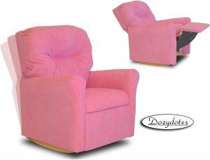 Dozydotes Contemporary Hot Pink Rocker Recliner