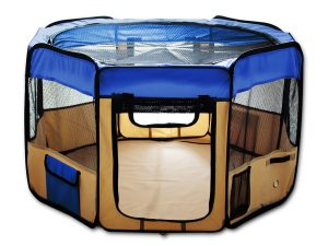 "ESK COLLECTION Blue 45"" Pet Puppy Dog Playpen Exercise Pen Kennel 600d Oxford Cloth"