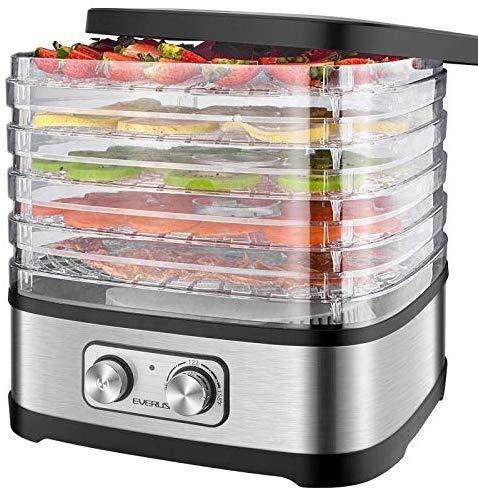 EVERUS Food Dehydrator Machine Food Dryer Dehydrator for Beef Jerky, Fruits, Vegetables, Adjustable Temperature Control
