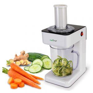Electric Food Spiralizer Slicer Chopper - 3-in-1 Vegetable Processor