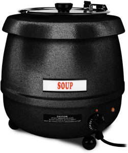 Excellanté 10.50-Quart Stainless Steel Soup Warmer, Black