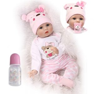 Funny House 22inch55cm Reborn Baby Doll Realistic Real Looking | solid silicone baby doll for sale