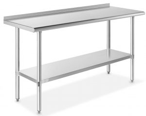 stainless steel commercial work table with undershelf