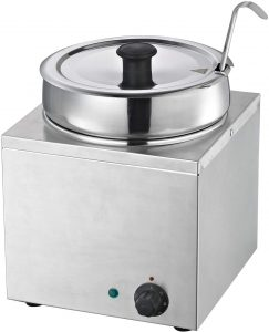 Hakka Commercial Countertop Food Warmer/Buffet Soup Pot (3.5L)