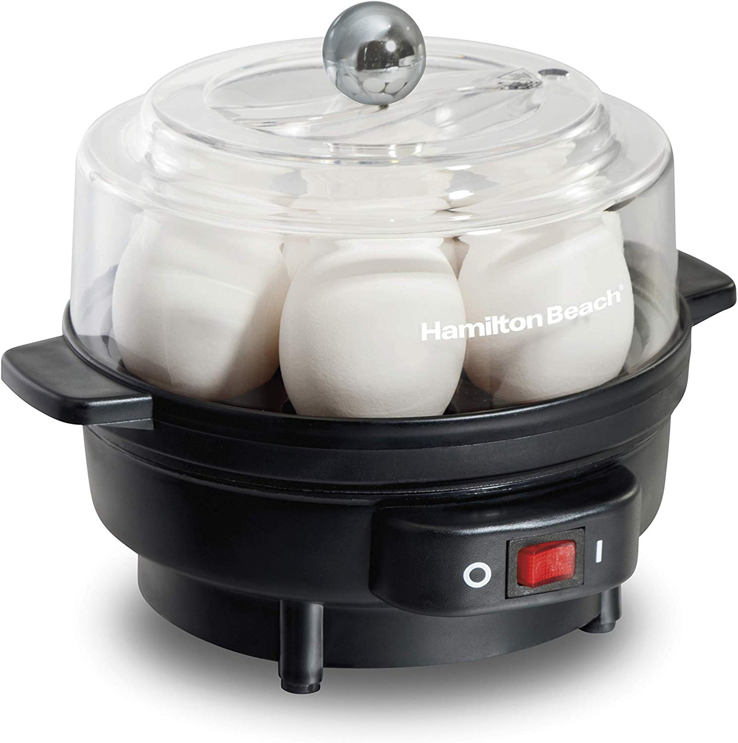 Hamilton Beach Electric Egg Cooker and Poacher for Soft, Hard Boiled or Poached with Ready Timer