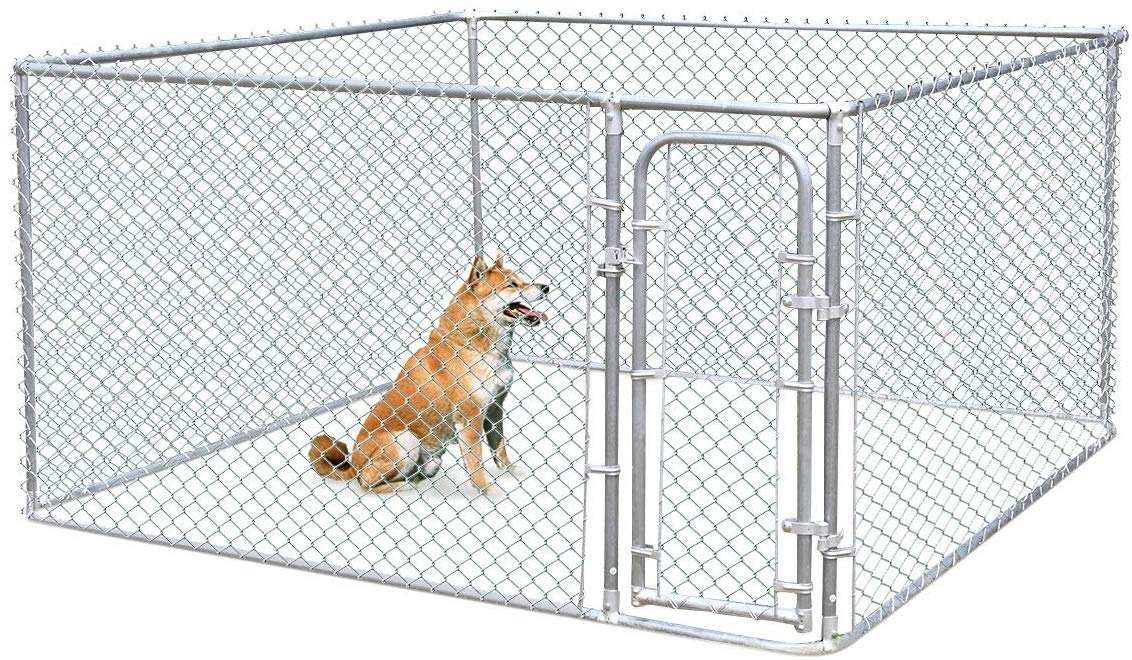 JAXPETY Foldable Metal Pet Exercise and Playpen