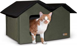 K&H Pet Products Outdoor cardboard cat house