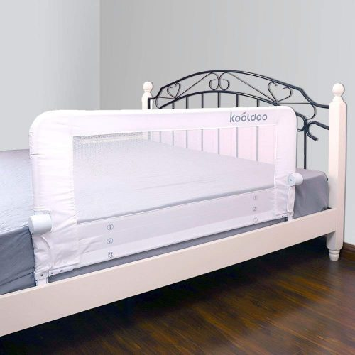 KOOLDOO 43 Inches Fold Down Toddlers Safety Bed Rail Children Bed