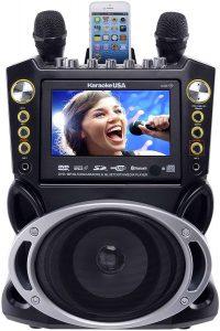 Karaoke USA GF844 Complete Karaoke System with 2 Microphones, Remote Control