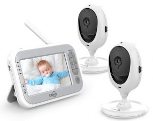 "LBtech Video Baby Monitor with Two Cameras and 4.3"" LCD"
