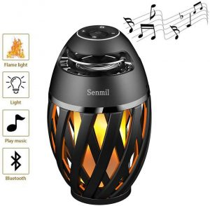 LED Flame Table Lamp Bluetooth Speakers