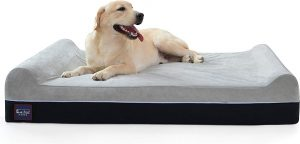 Laifug Orthopedic Memory Foam Extra Large Dog Bed Pillow with Durable Water Proof Liner & Removable Washable Cover