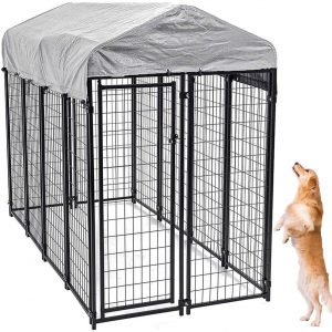Large Dog Kennel Outdoor | Extra Large Dog Crate Metal Welded Pet Cage