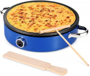 "MICHELANGLEO Crepe Maker 13 Inch, Professional Electric Crepe Maker with Large 13"" Grill Plate"