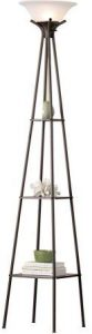 Mainstays Etagere Floor Lamp Charcoal Finish, 69.5""