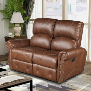 Merax Loveseat Leather Reclining Sofa Leather Couch Recliner Sofa