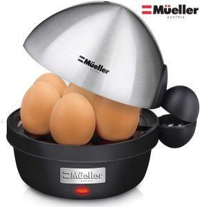 Mueller Rapid Egg Cooker, Hard Boiled Egg Maker with Auto Shut-Off