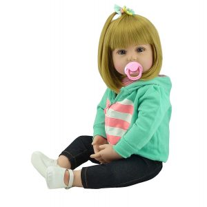 NPKDOLL 22 Inches Reborn Toddlers Reborn Baby Dolls Girl Realistic | solid silicone baby doll for sale, cheap silicone baby doll