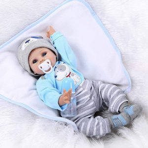 NPKDOLLS Reborn Baby Doll Soft Silicone Vinyl Baby Boy| solid silicone baby doll for sale | cheap silicone baby doll