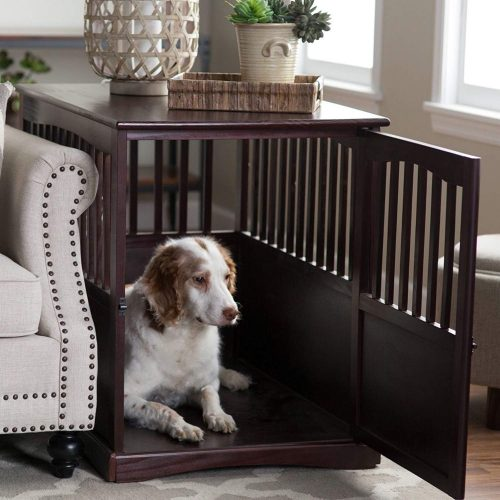 Newport Dog Crate Kennel Cage Bed Night Stand