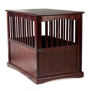 """Newport Pet Crate End Table (24"""" H, Espresso)"""