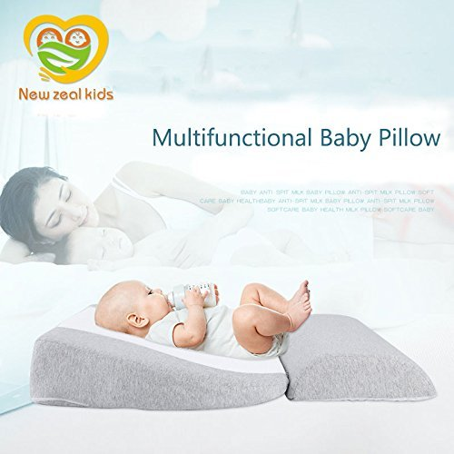 Newzealkids Baby Wedge Pillow, Infant Sleep Wedge for Crib, Newborn Acid Reflux