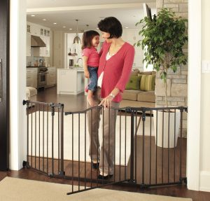 "North States 72"" Wide Deluxe Décor Baby Gate"