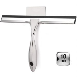 Shower Squeegee with Self Adhesive Hook